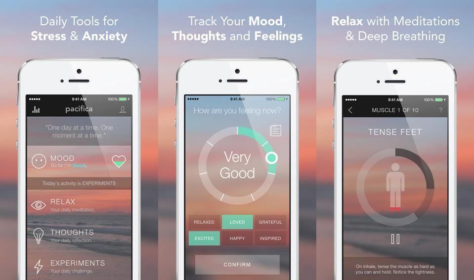 Pacifica app screen shots